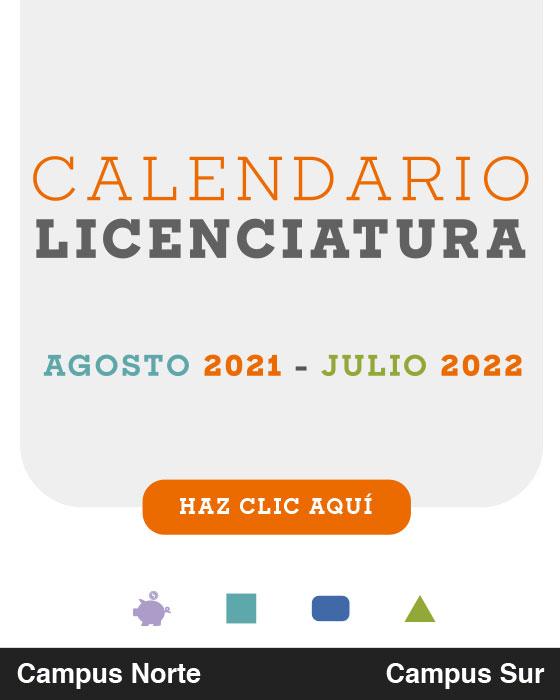 Calendiario Académico Licenciaturas Enero - Mayo Universidad Anáhuac México