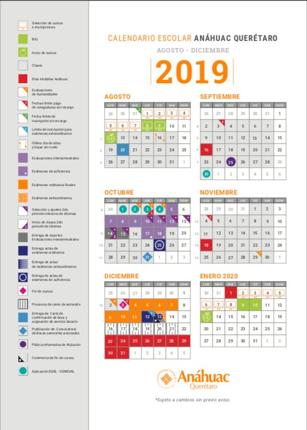 Calendario 2019 Agosto A Diciembre.Calendario Agosto Diciembre 2019