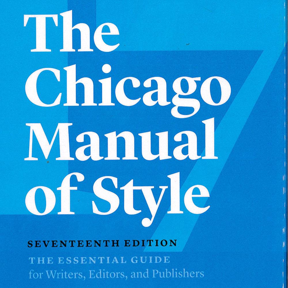 8 / 14 - Z253 C35 2017 The Chicago Manual of Style The University of Chicago Press, Estados Unidos 2017