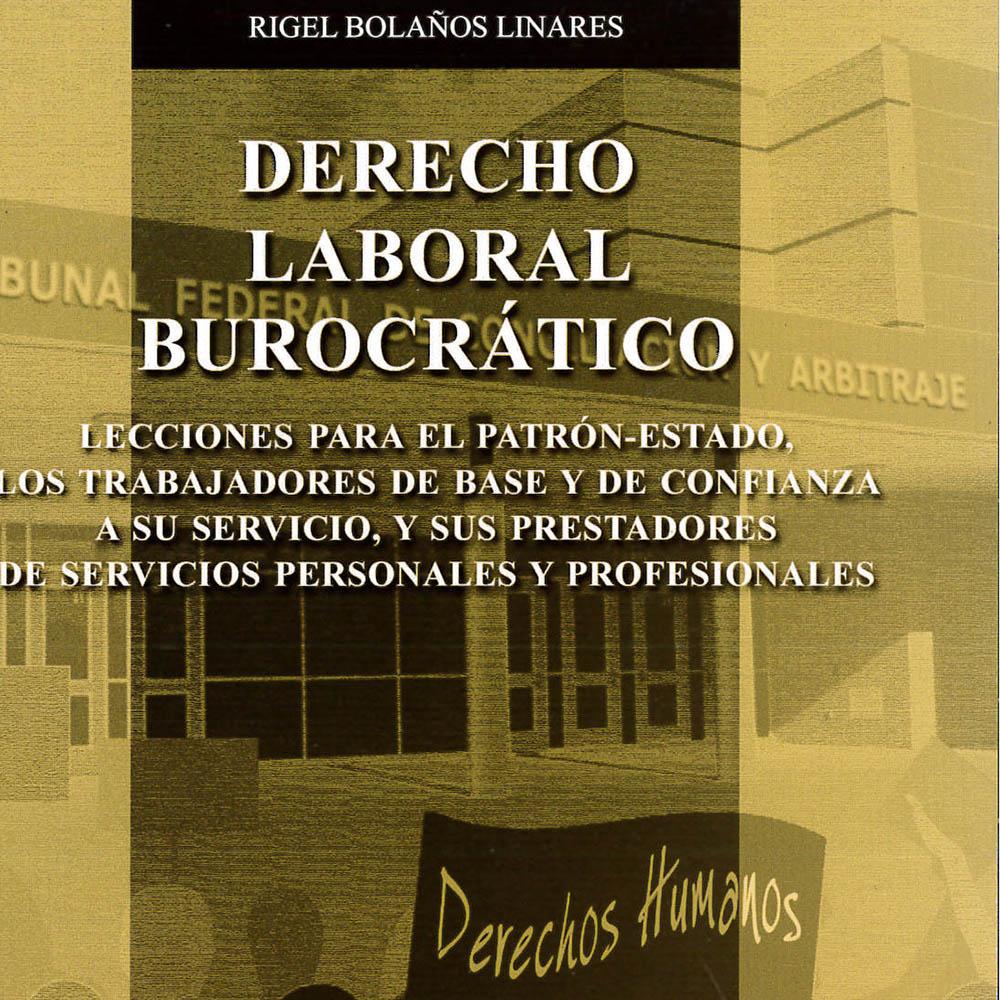 12 / 14 - KGF1789 B65 2014 Derecho Laboral Burocrático Rigel Bolaños Linares - Porrúa, México 2014