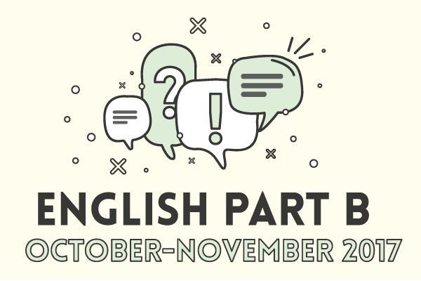 English Part B October-November 2017