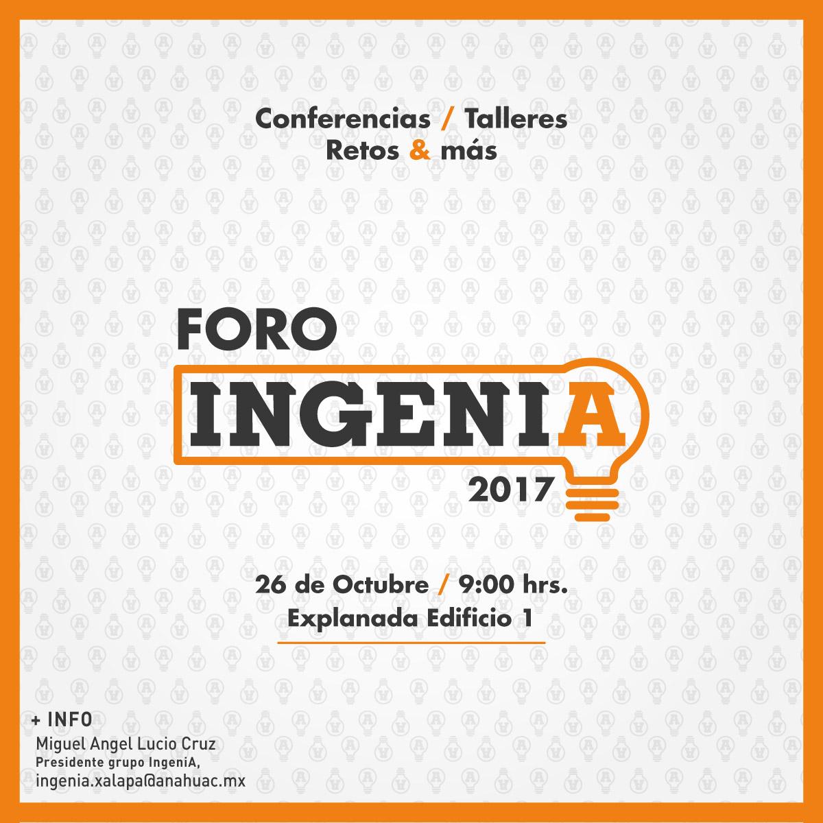 Foro IngeniA 2017