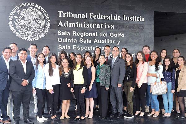 Las Escuelas de Negocios Internacionales y Derecho visitan el TFJA
