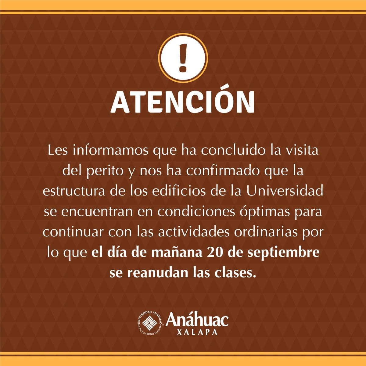 Reanudación de Actividades   Universidad Anáhuac Xalapa