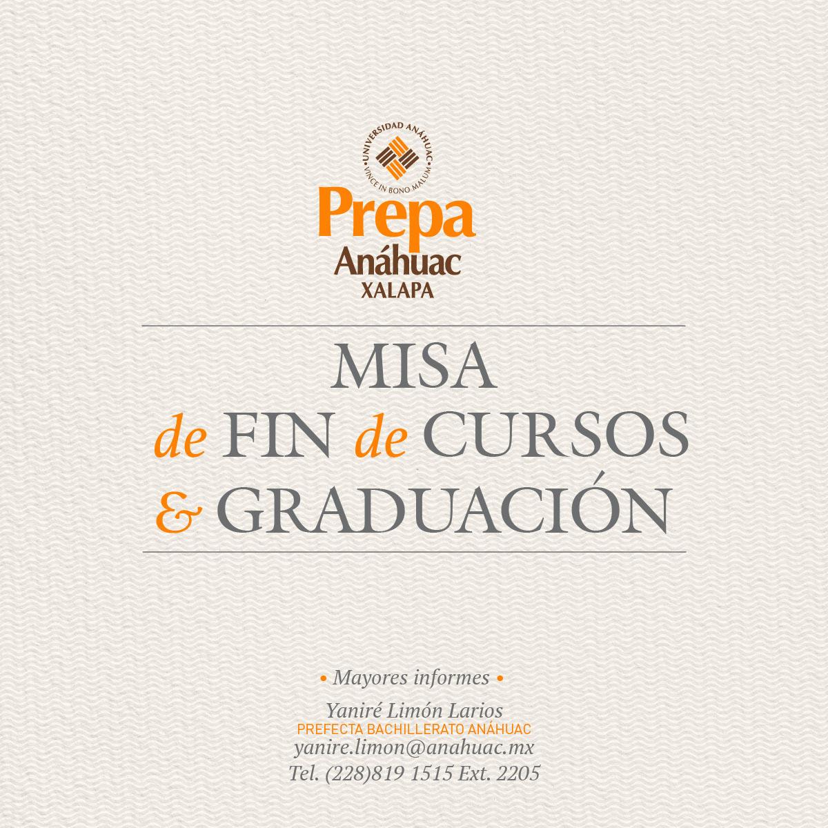 Misa de Fin de Cursos y Graduación 2018