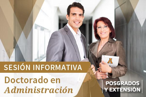 Sesión informativa sobre el Doctorado en Administración