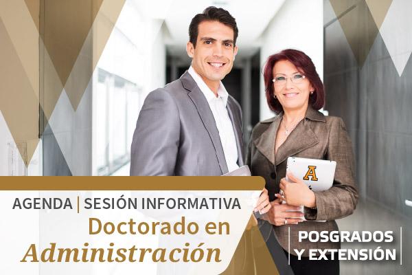 Solicite una sesión informativa sobre el Doctorado en Administración