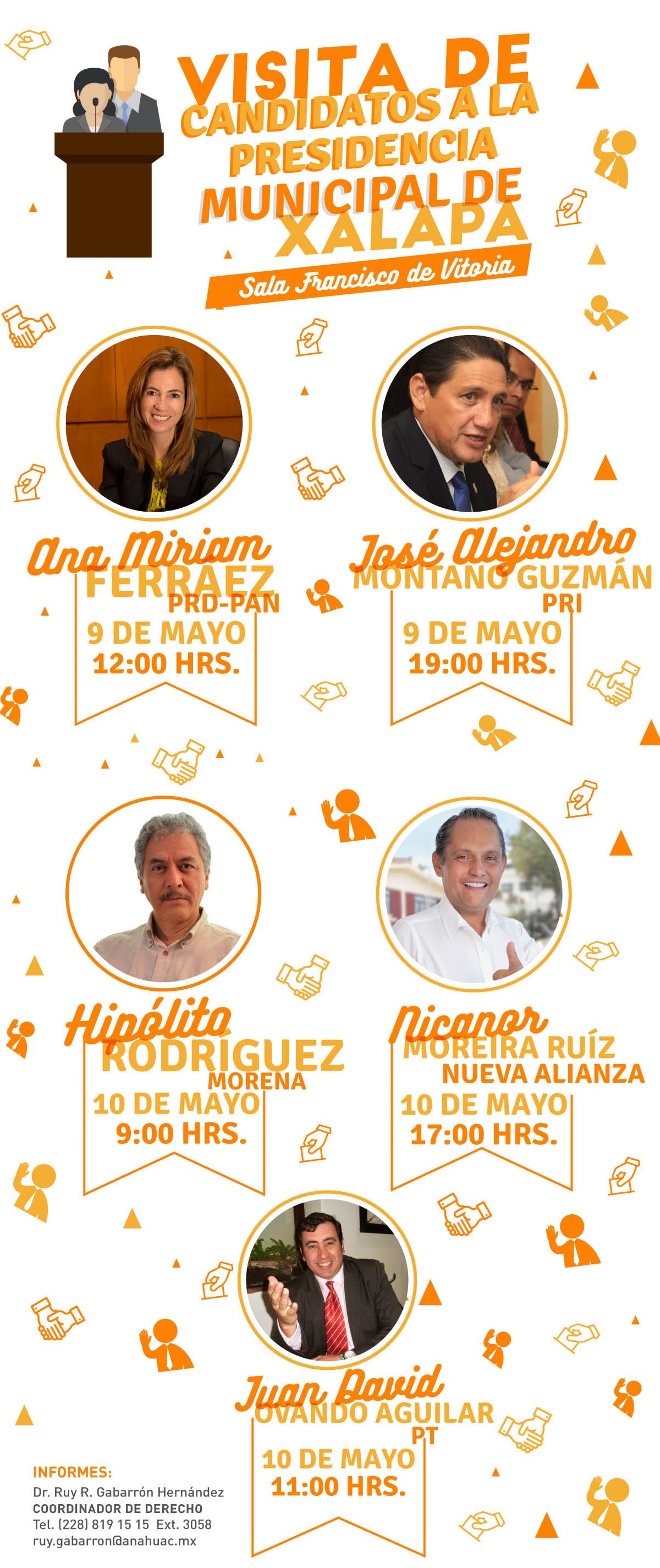 Visita de Candidatos a la Presidencia Municipal de Xalapa