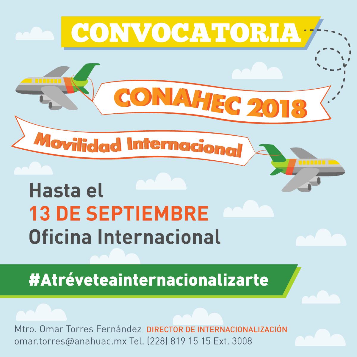 Convocatoria de Movilidad Internacional CONAHEC 2018
