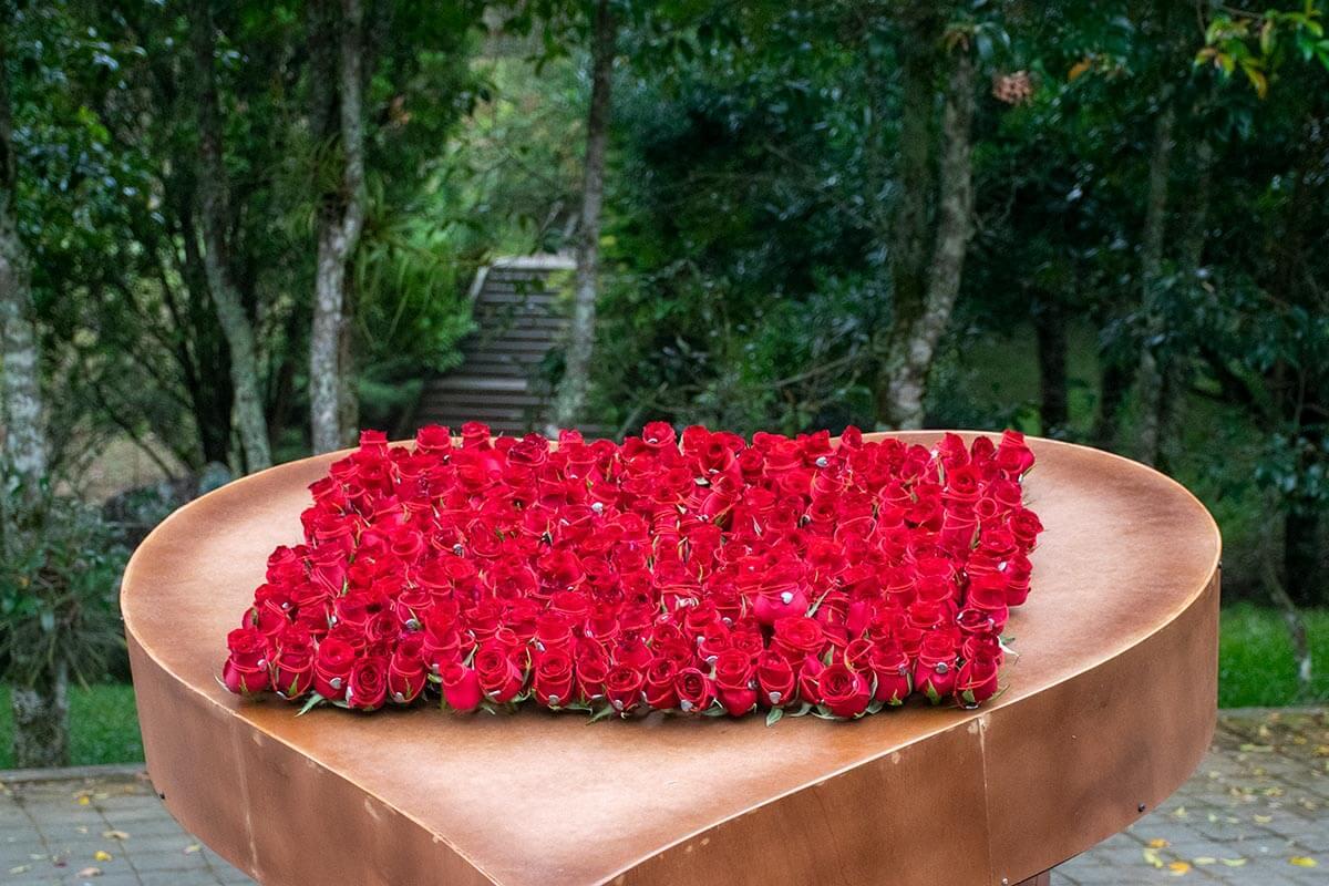 Rosas para los asistentes a la Séptima Hora del Reto.