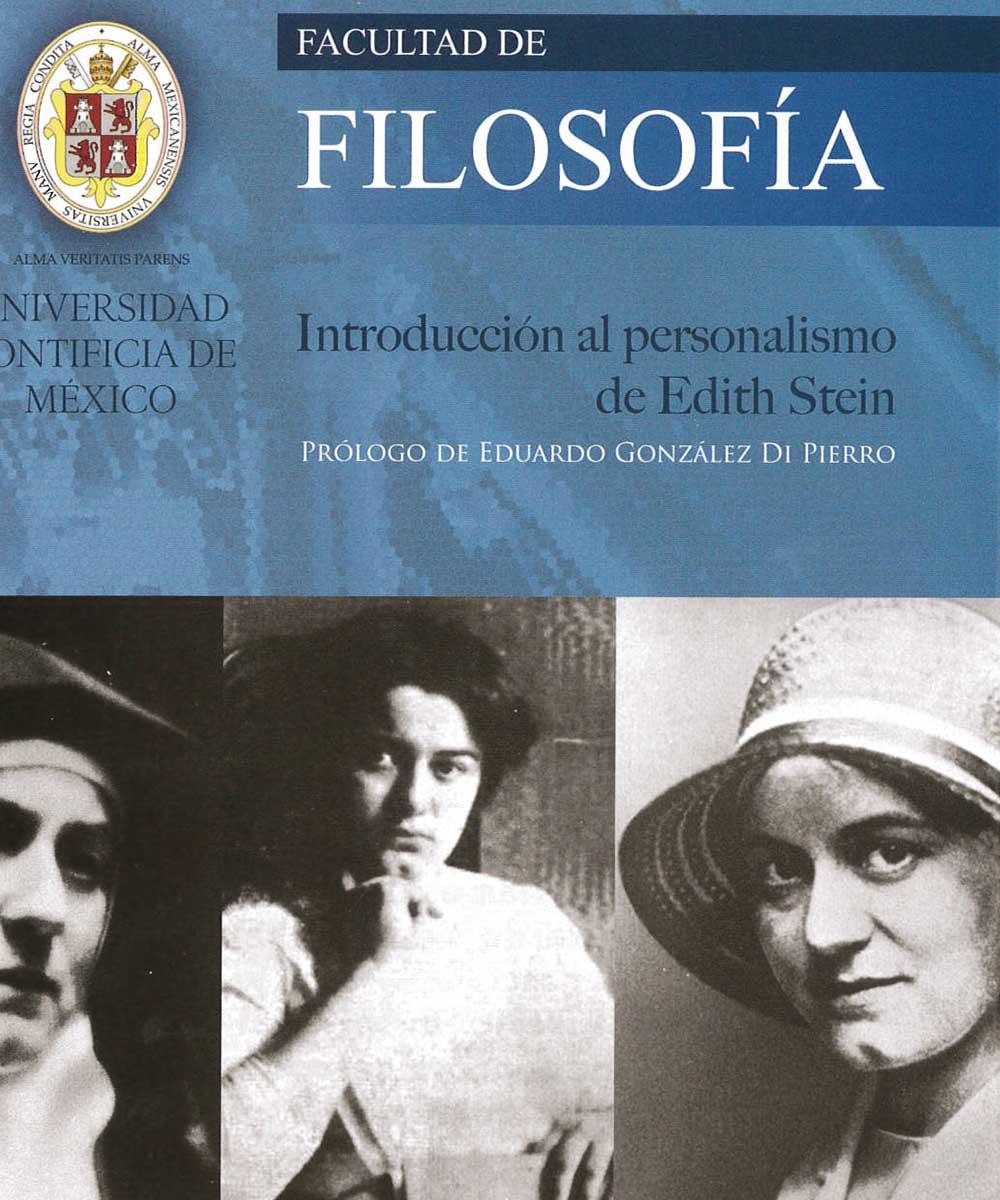 11 / 13 - B828.5 S35 Introducción al personalismos de Edith Stein, Rubén Sánchez Muñoz - Universidad Pontificia de México, México 2016
