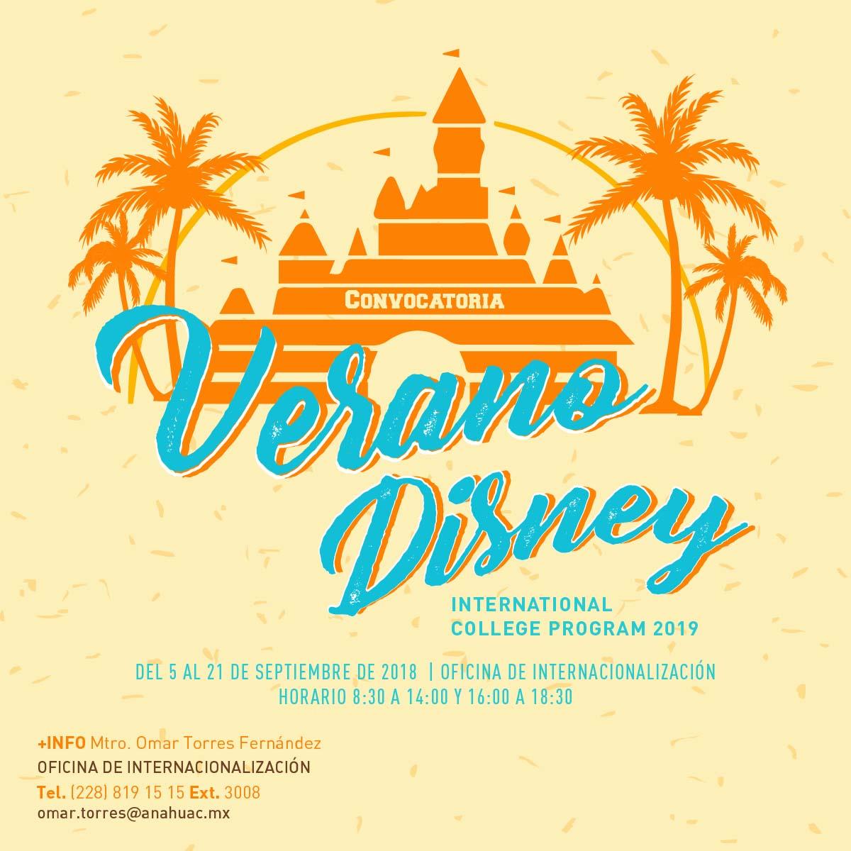 Verano Disney - International College Program 2019