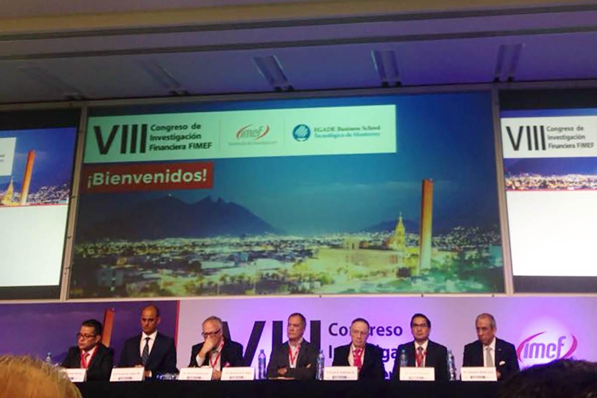 1 / 5 - Ponentes del VIII Congreso de Investigación Financiera FIMEF.