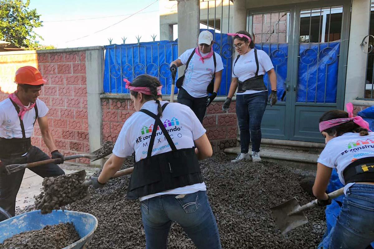 3 / 8 - Esfuerzo y gran energía de todos los voluntarios.