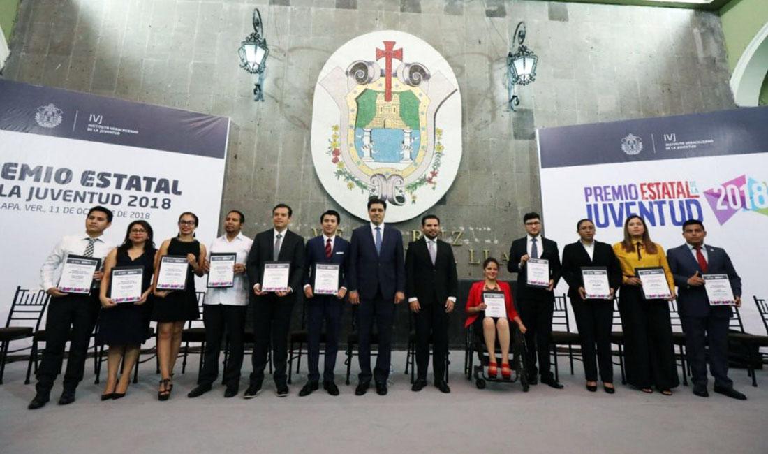 Ganadores del Premio Estatal de la Juventud 2018.
