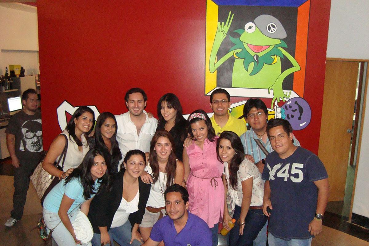 12 / 34 - Visita en 2011 a Alazraki Publicidad.