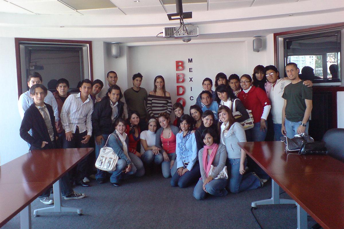 14 / 34 - Visita en 2008 a la agencia BBDO.