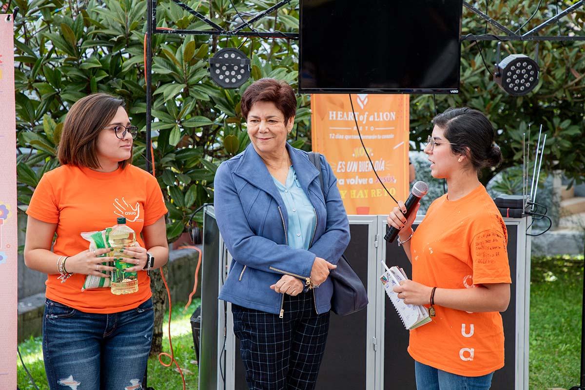 Irma Chedraui Obeso, presidenta del Banco de Alimentos Xalapa.