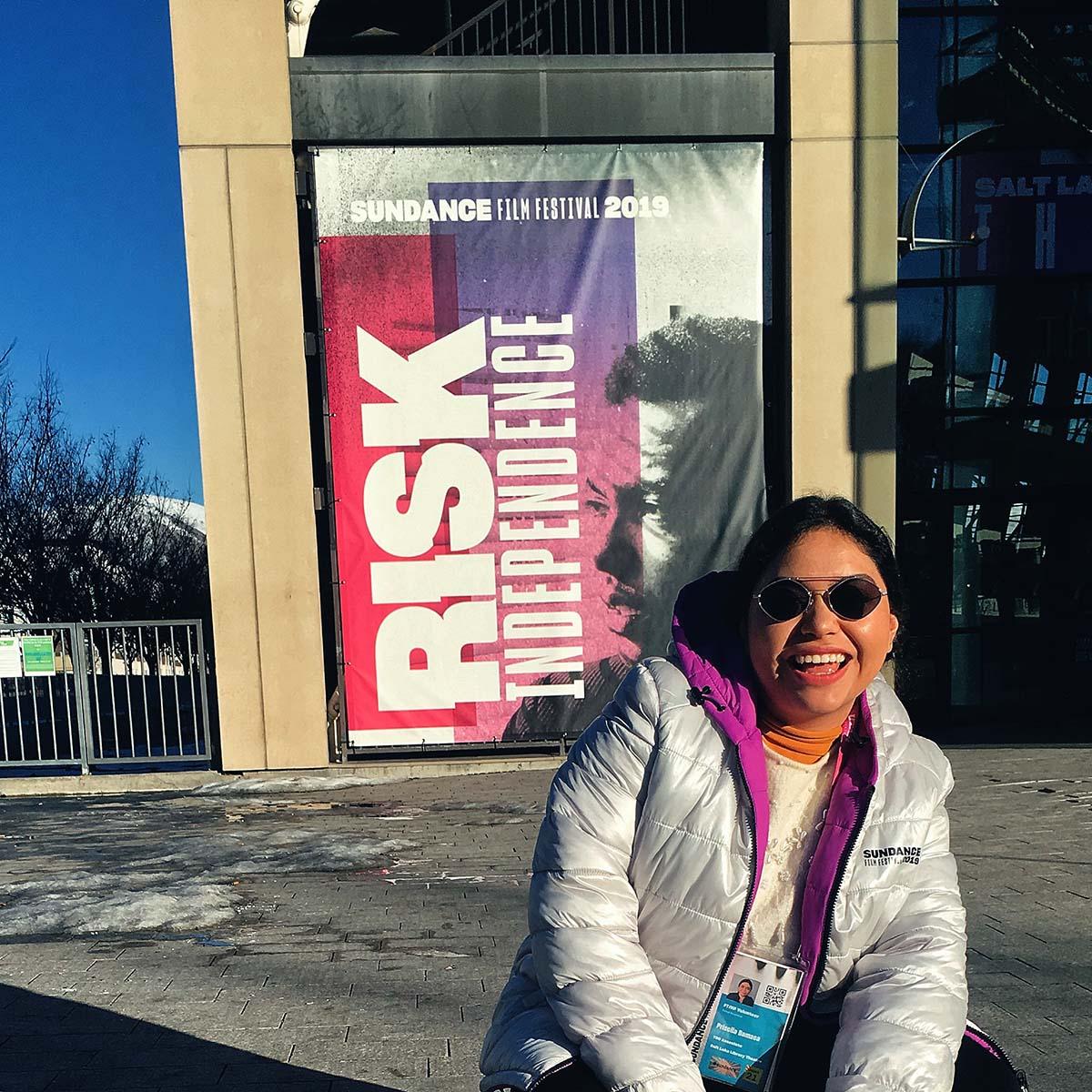 3 / 3 - Alumna de Dirección de Empresas de Entretenimiento realiza Práctica Profesional como voluntaria en el Festival Sundance