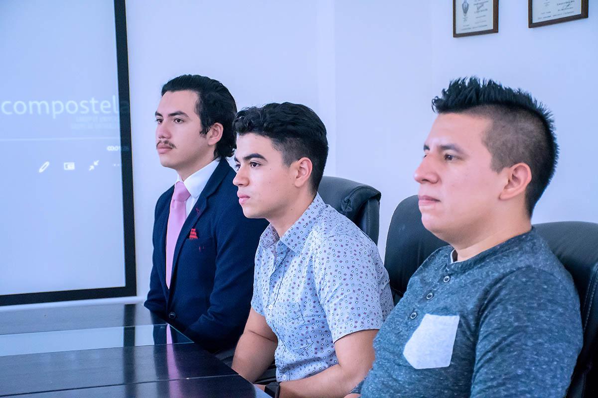 1 / 6 - Alumnos ganadores de Comunicación y de Dirección de Empresas de Entretenimiento.