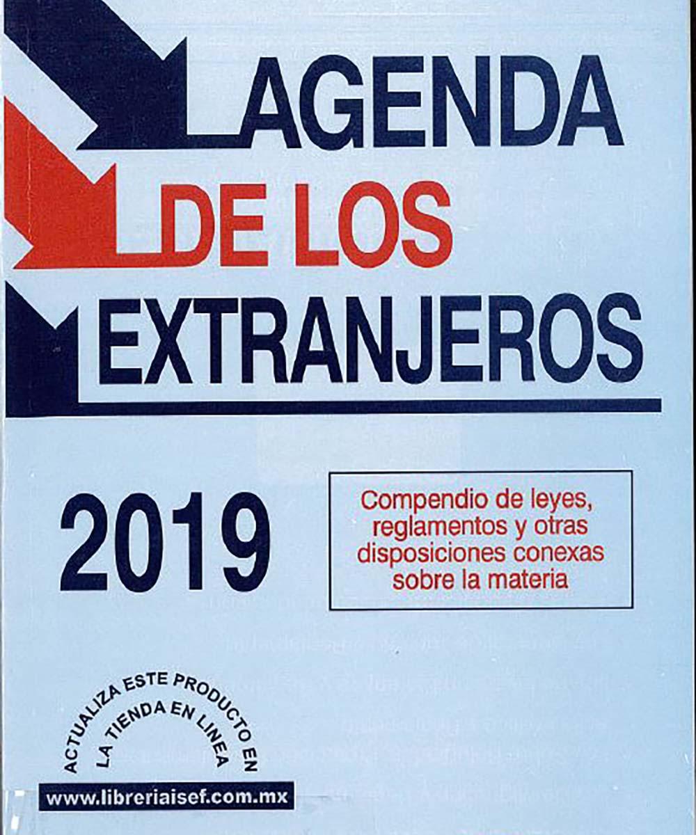 1 / 12 - KGF2981.A28 I-84 Agenda de los Extranjeros 2019 - ISEF, México 2019