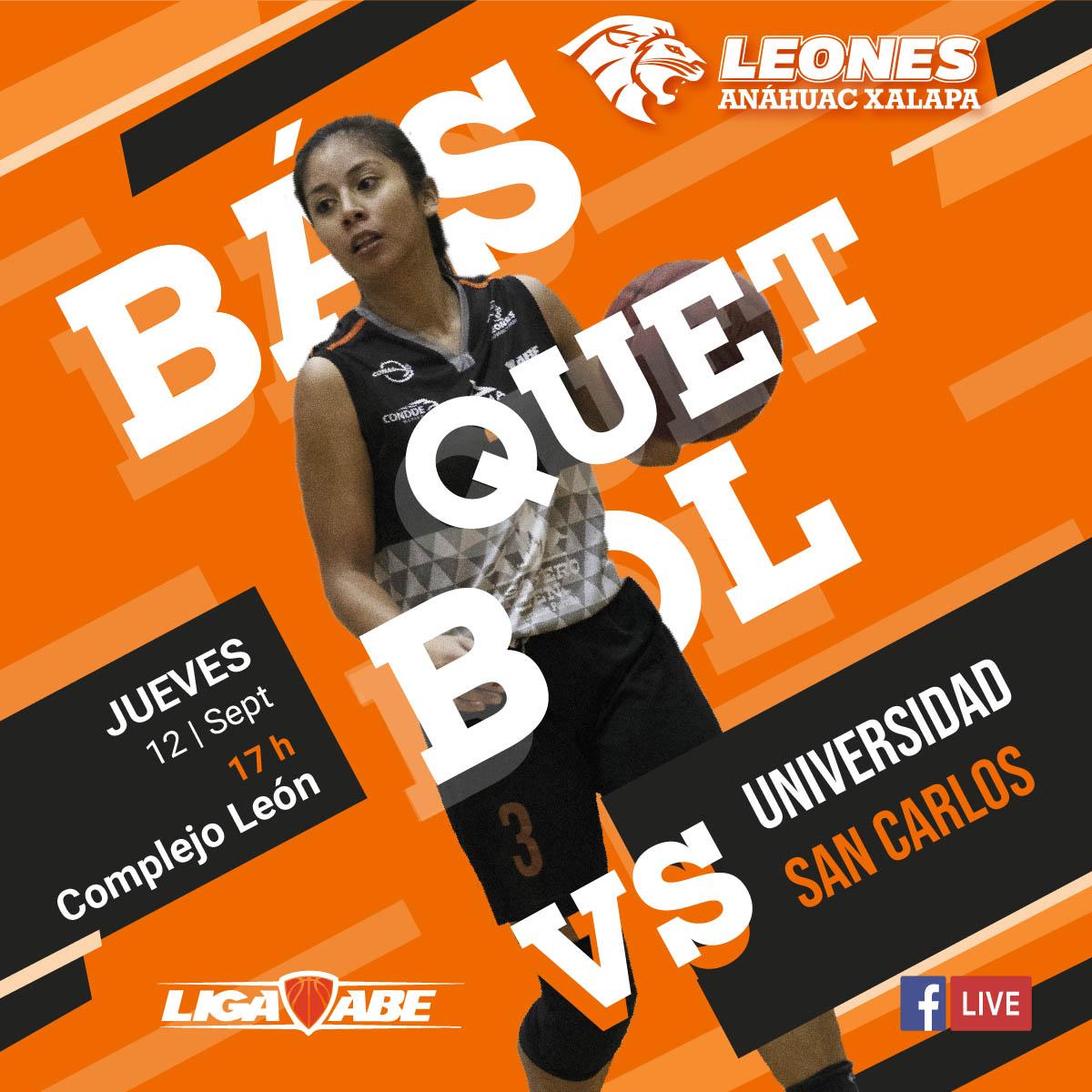 Básquetbol Femenil ABE: Leonas vs Universidad San Carlos
