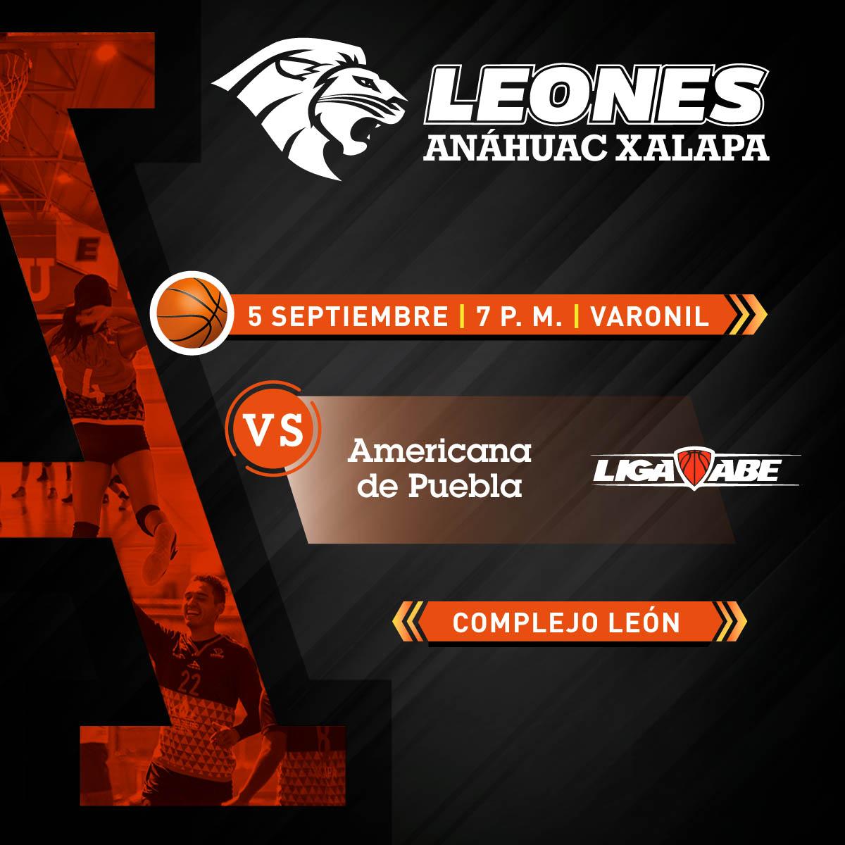 Básquetbol Varonil ABE: Anáhuac Xalapa vs Americana de Puebla