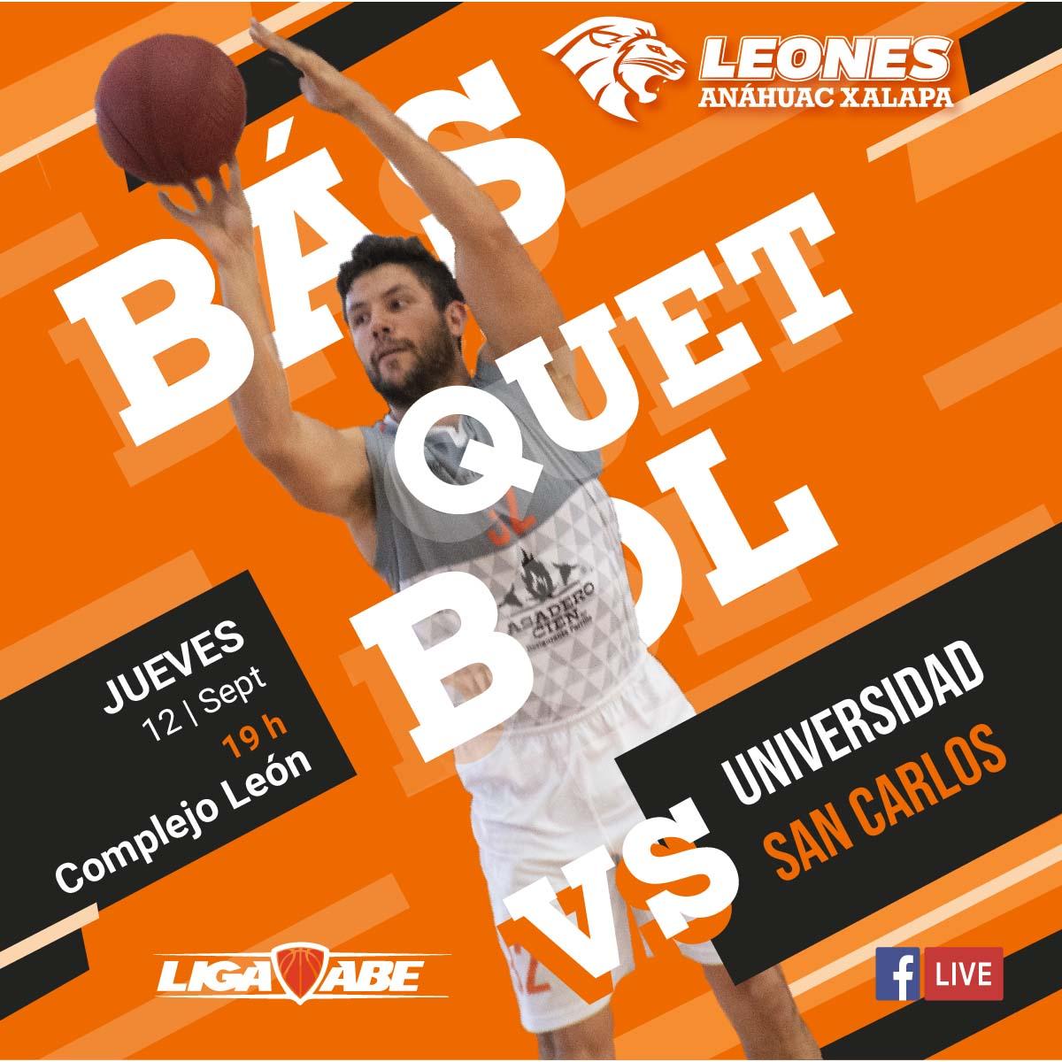 Básquetbol Varonil ABE: Leones vs Universidad San Carlos