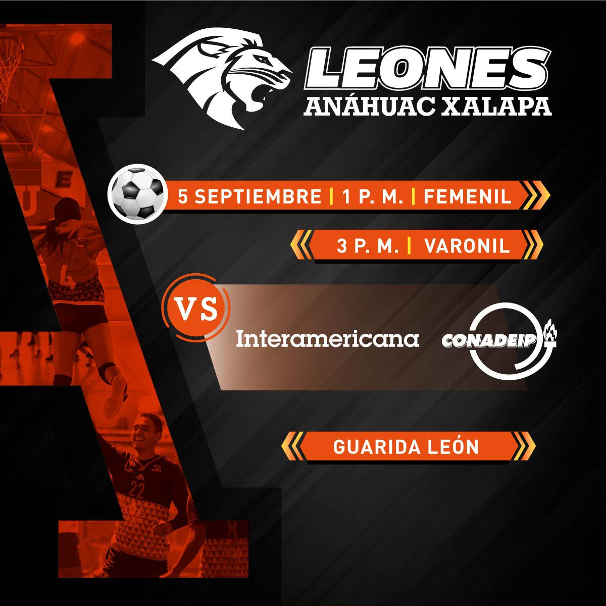 Fútbol Soccer Femenil y Varonil: Anáhuac Xalapa vs Interamericana