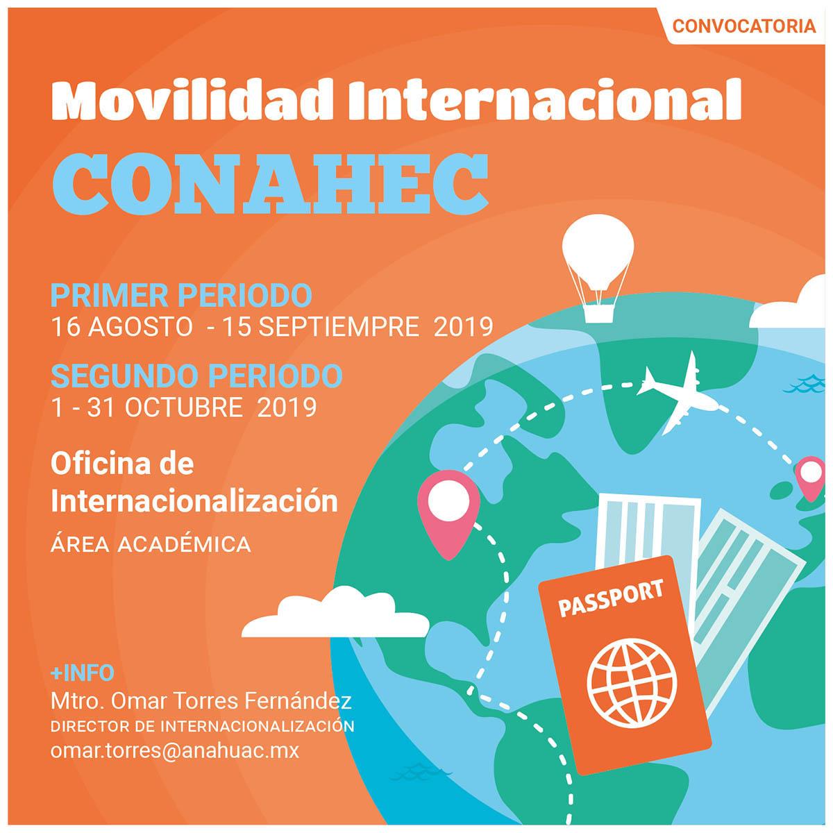 Convocatoria de Movilidad Internacional CONAHEC 2020
