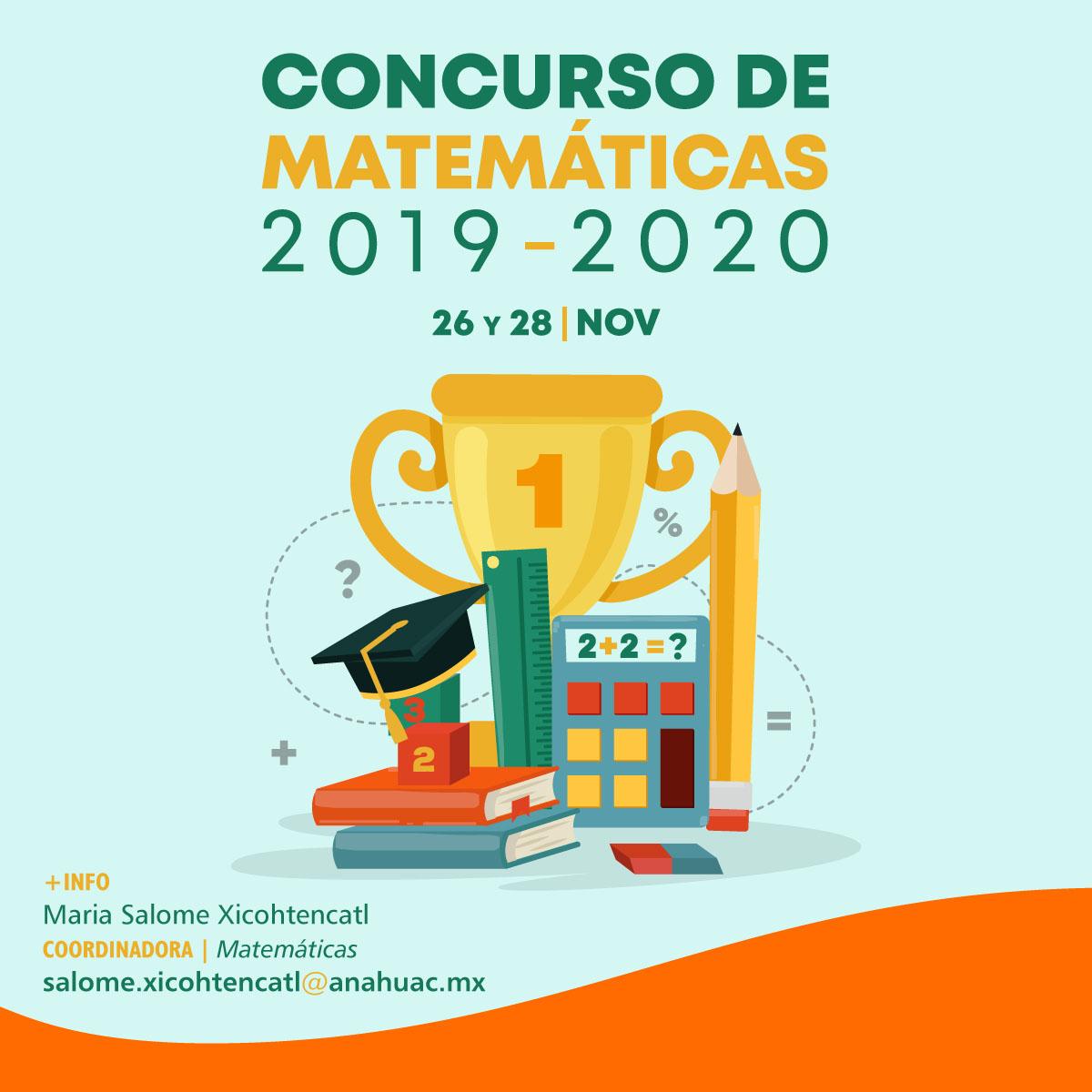 Concurso de Matemáticas Prepa Anáhuac 2019-2020