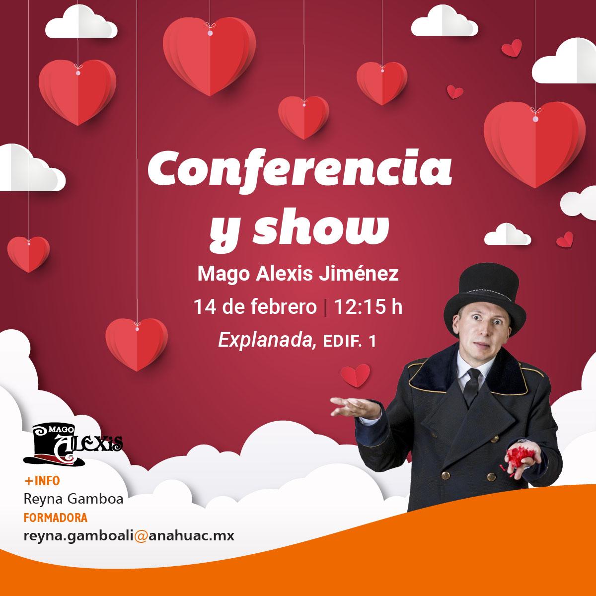 Conferencia y Show con el Mago Alexis Jiménez