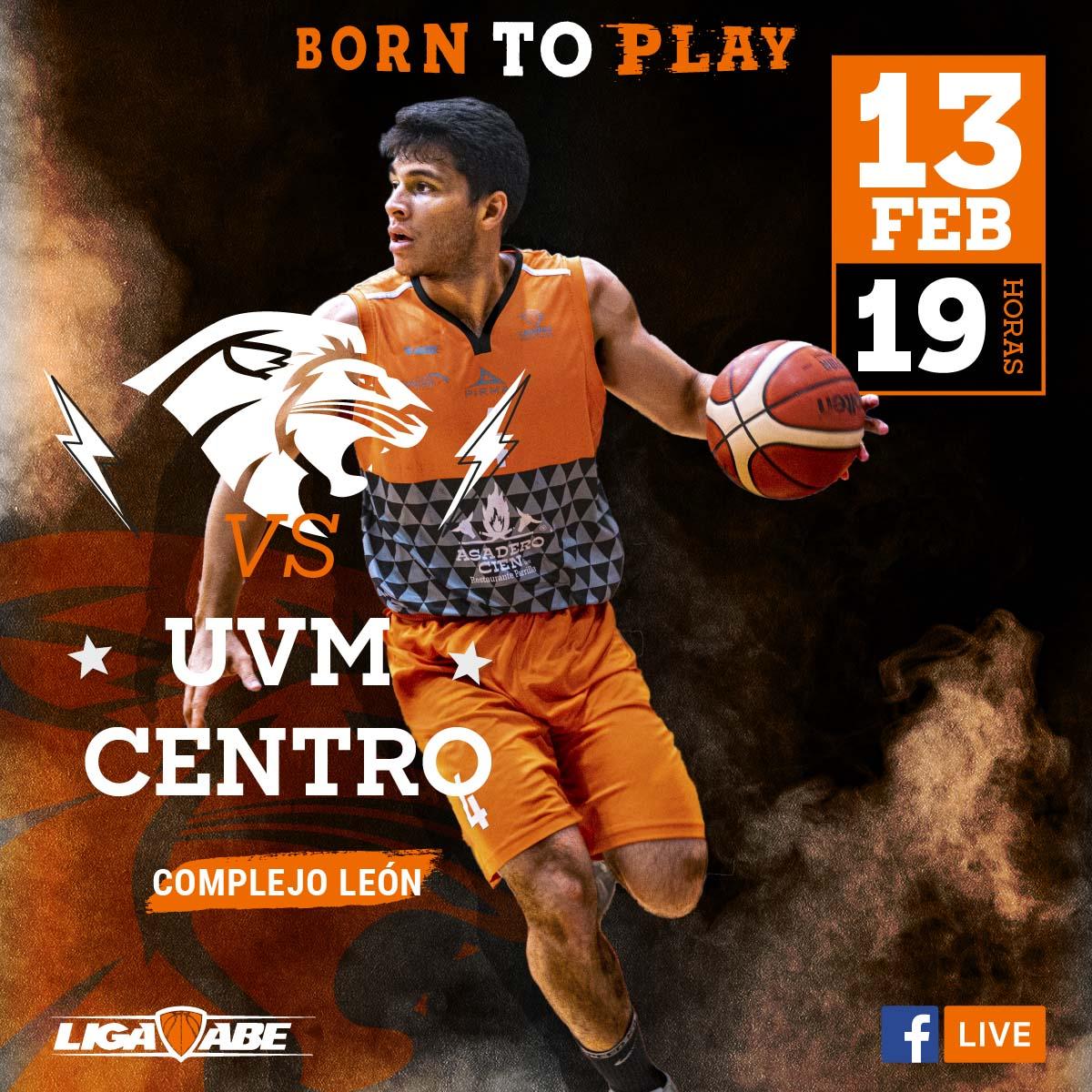 Básquetbol Varonil ABE: Leones vs UVM Centro