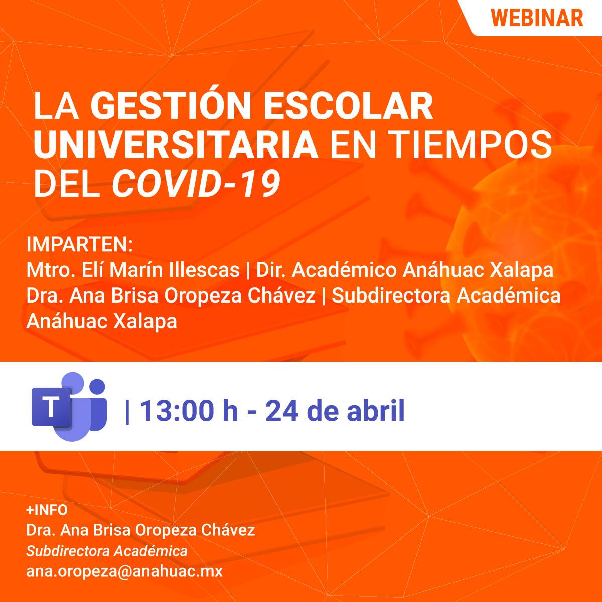 La Gestión Escolar Universitaria en Tiempos del COVID-19