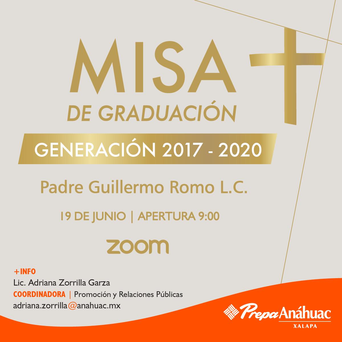 Misa de Graduación de la Generación 2017-2020