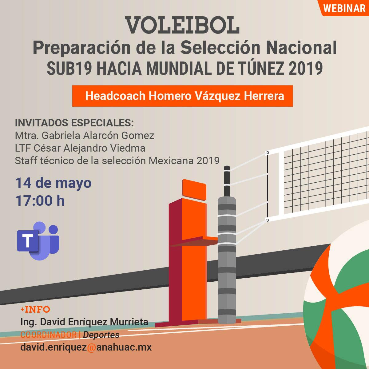 Voleibol: Preparación de la Selección Nacional SUB19 Hacia el Mundial de Túnez 2019