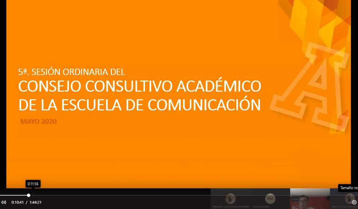 De Manera Virtual se Realiza la 5ta. Reunión del Consejo Consultivo de Comunicación