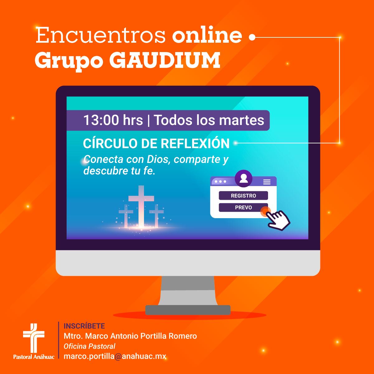 Grupo Gaudium: Encuentros Online del Círculo de Reflexión