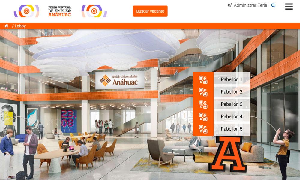3 / 5 - La Red de Universidades Anáhuac Celebró la Feria Virtual de Empleo 2020