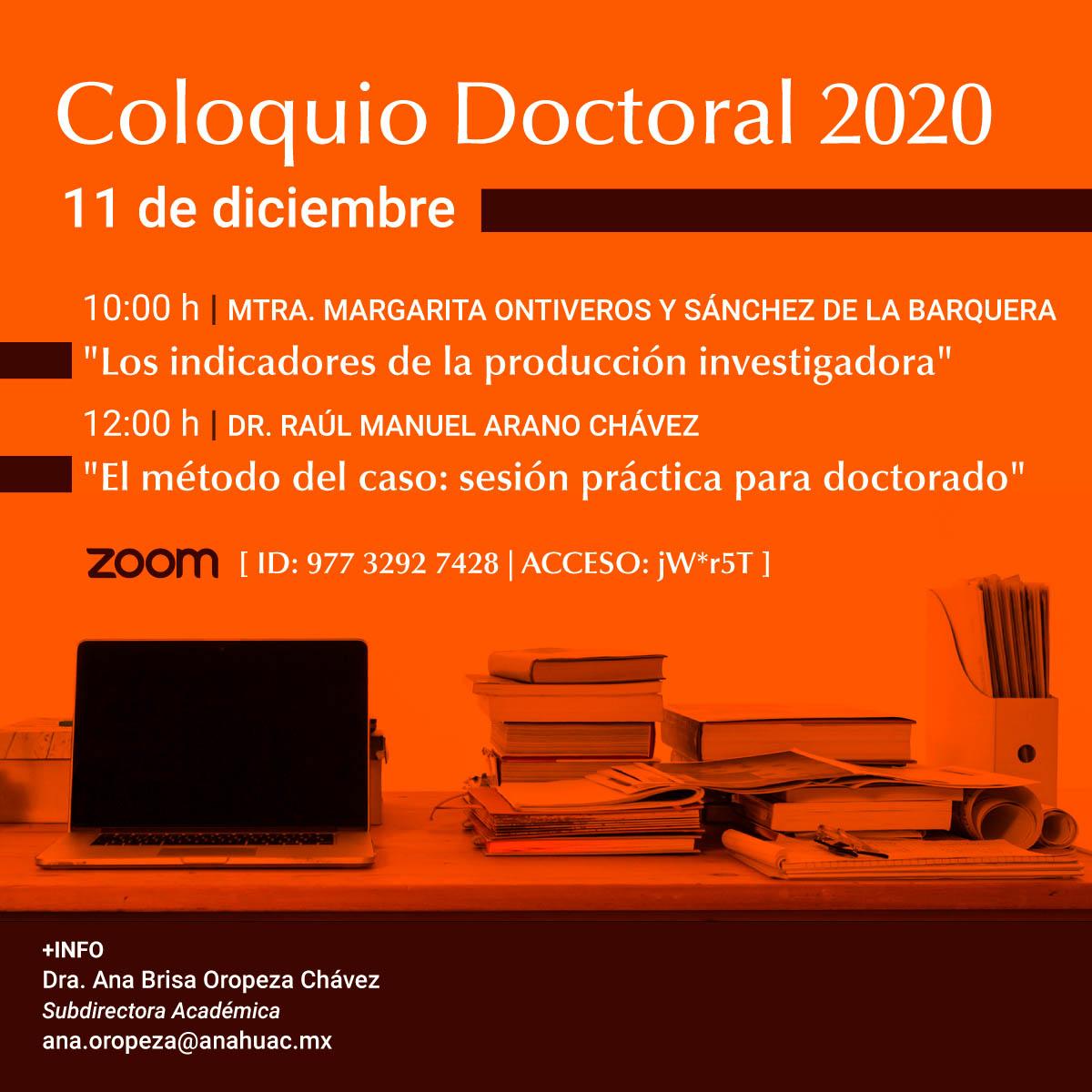 Coloquio Doctoral 2020