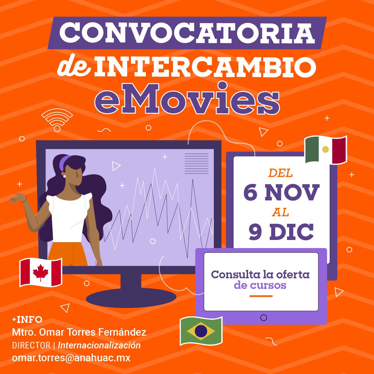 Convocatoria eMovies para Movilidad Virtual