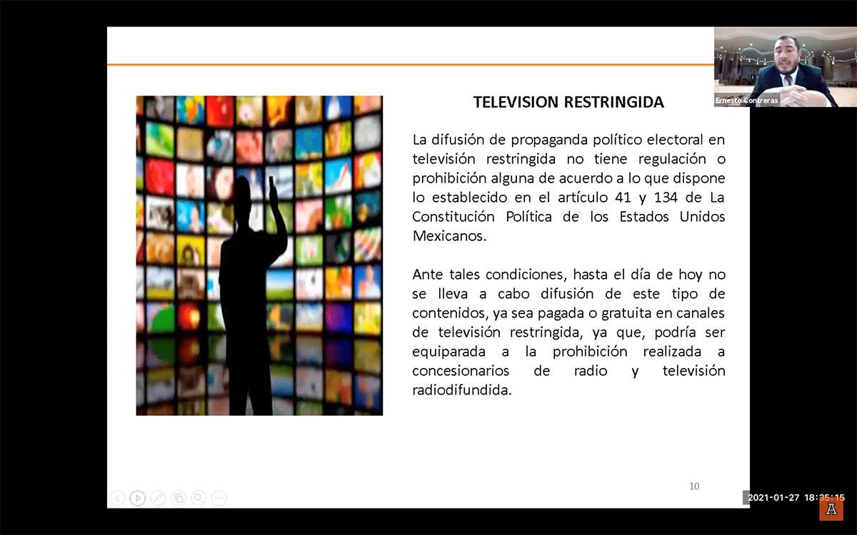 Derecho de Acceso a la Radio y Televisión en Términos de la Legislación Electoral