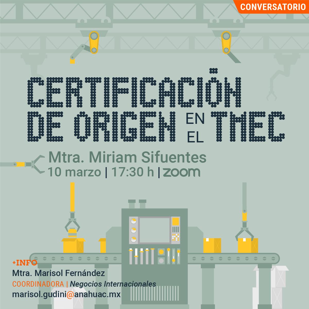 Certificación de Origen en el TMEC