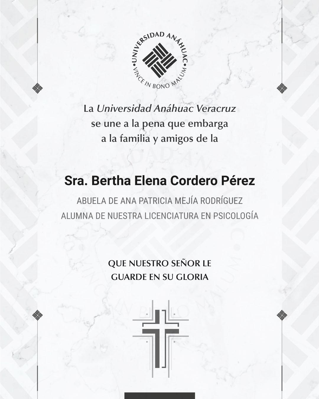 Sra. Bertha Elena Cordedo Pérez