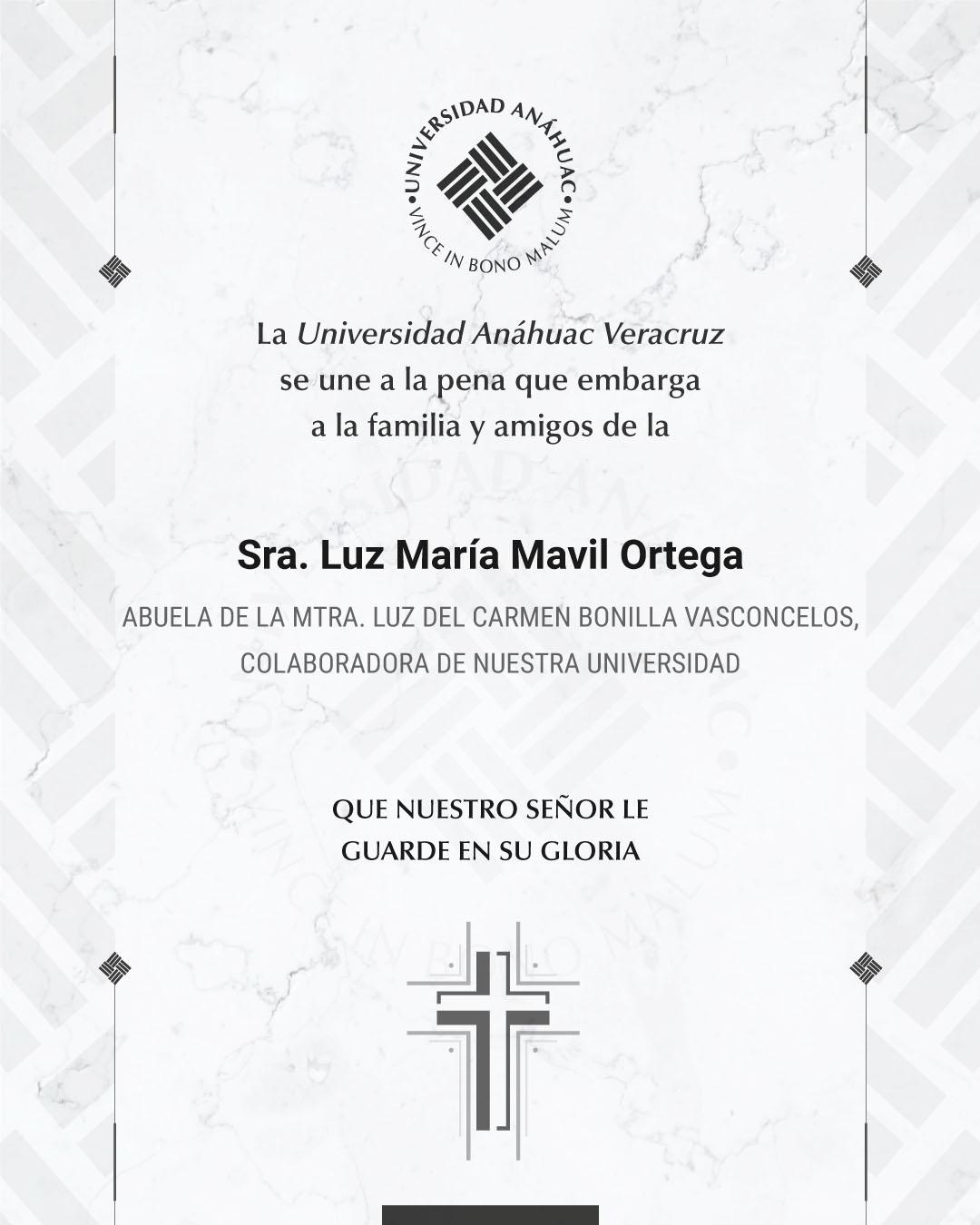 Sra. Luz María Mavil Ortega