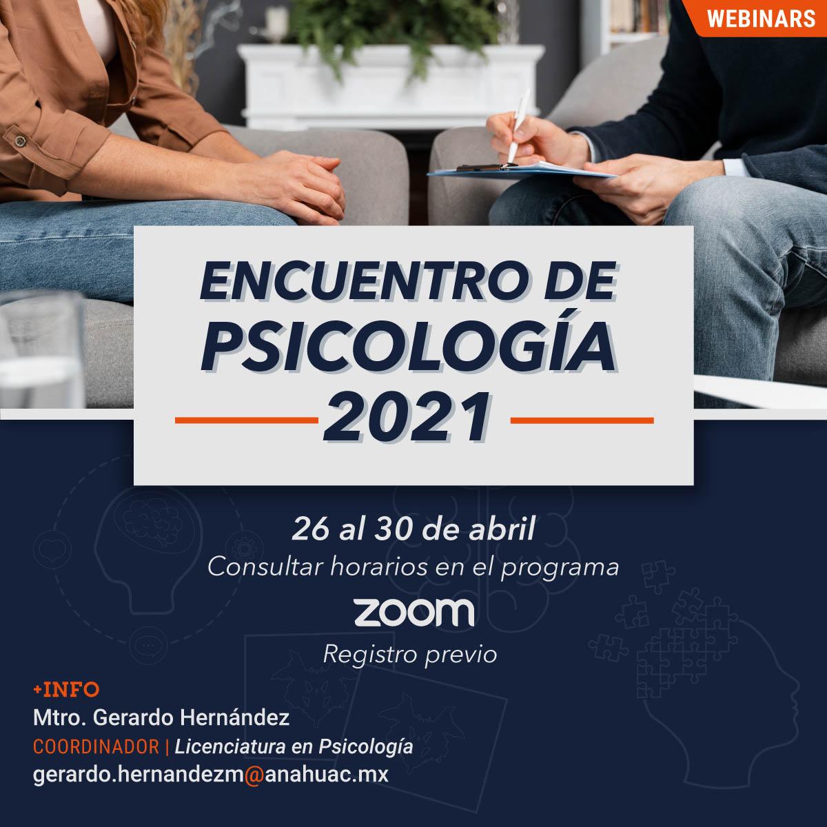 Encuentro de Psicología 2021