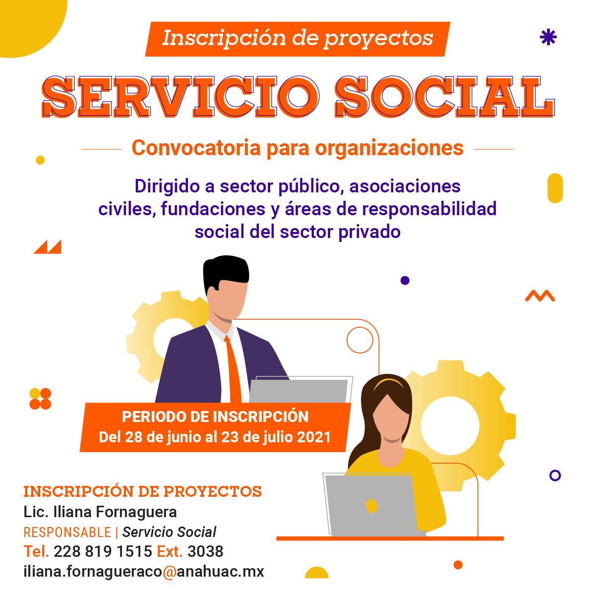 Servicio Social: Convocatoria para Organizaciones