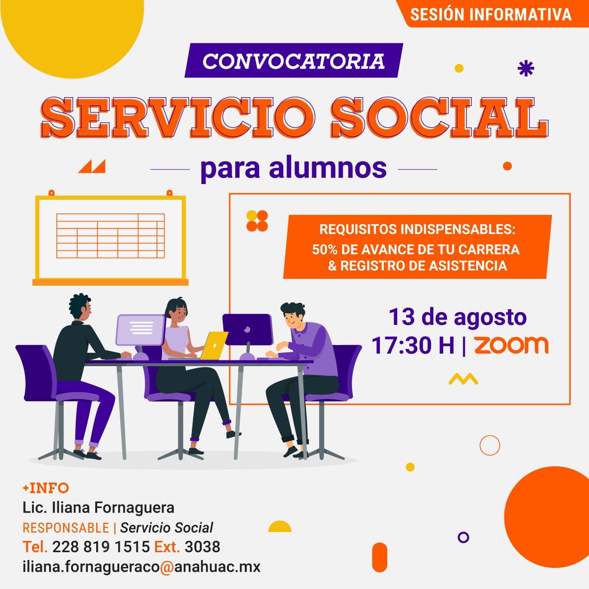 Convocatoria de Servicio Social para Alumnos