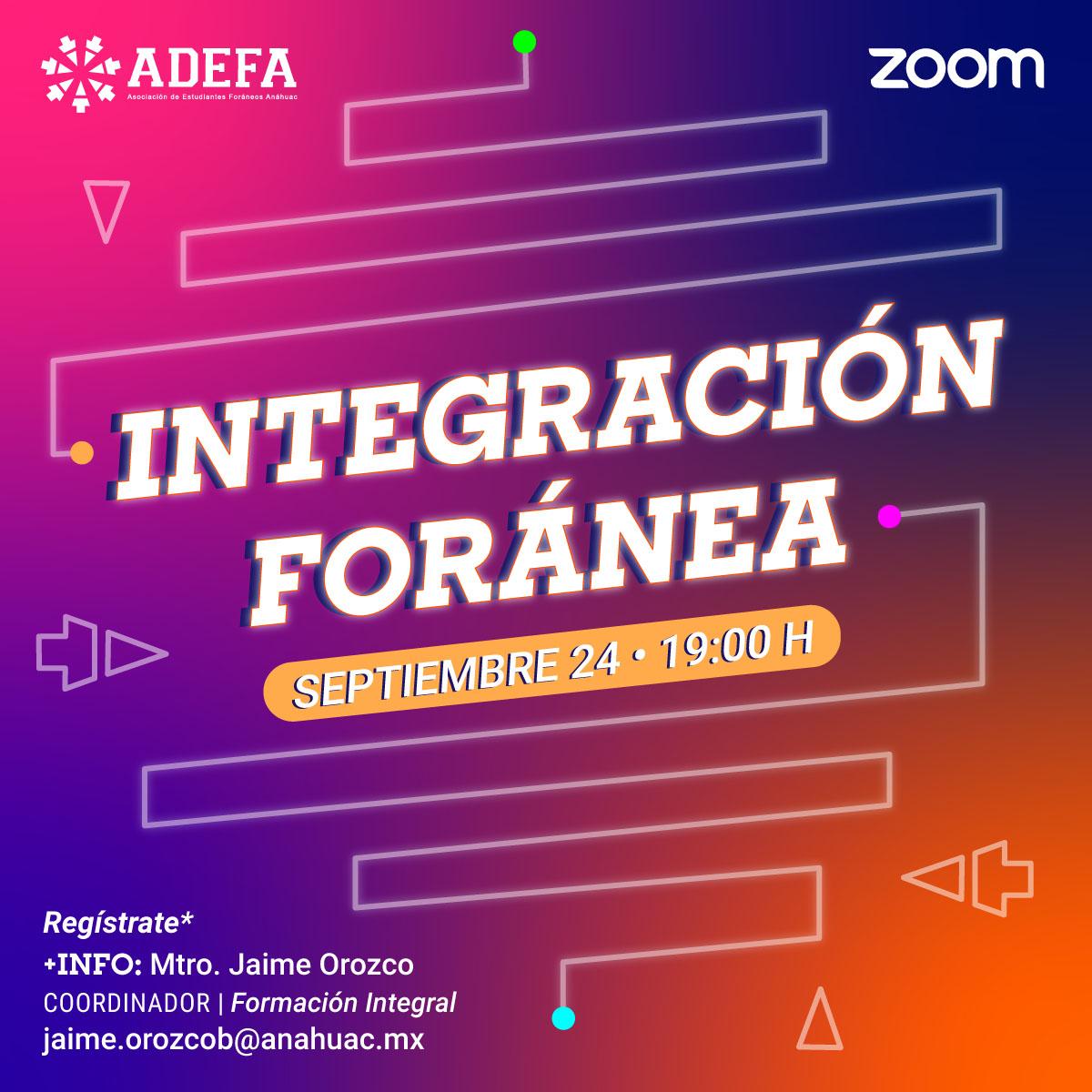 Integración Foránea