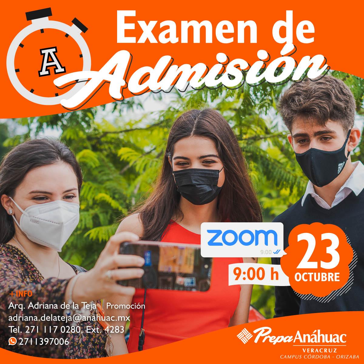 Examen de Admisión Online Córdoba-Orizaba